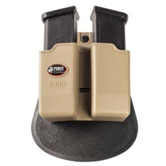 "Fobus Glock 17 Tan Double Magazine Pouch ""6900K"""