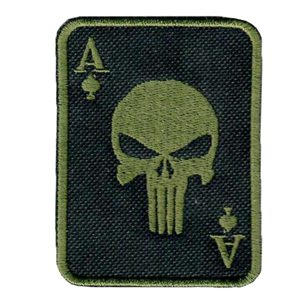 Punisher Ace Of Spades Death Card Morale Patch