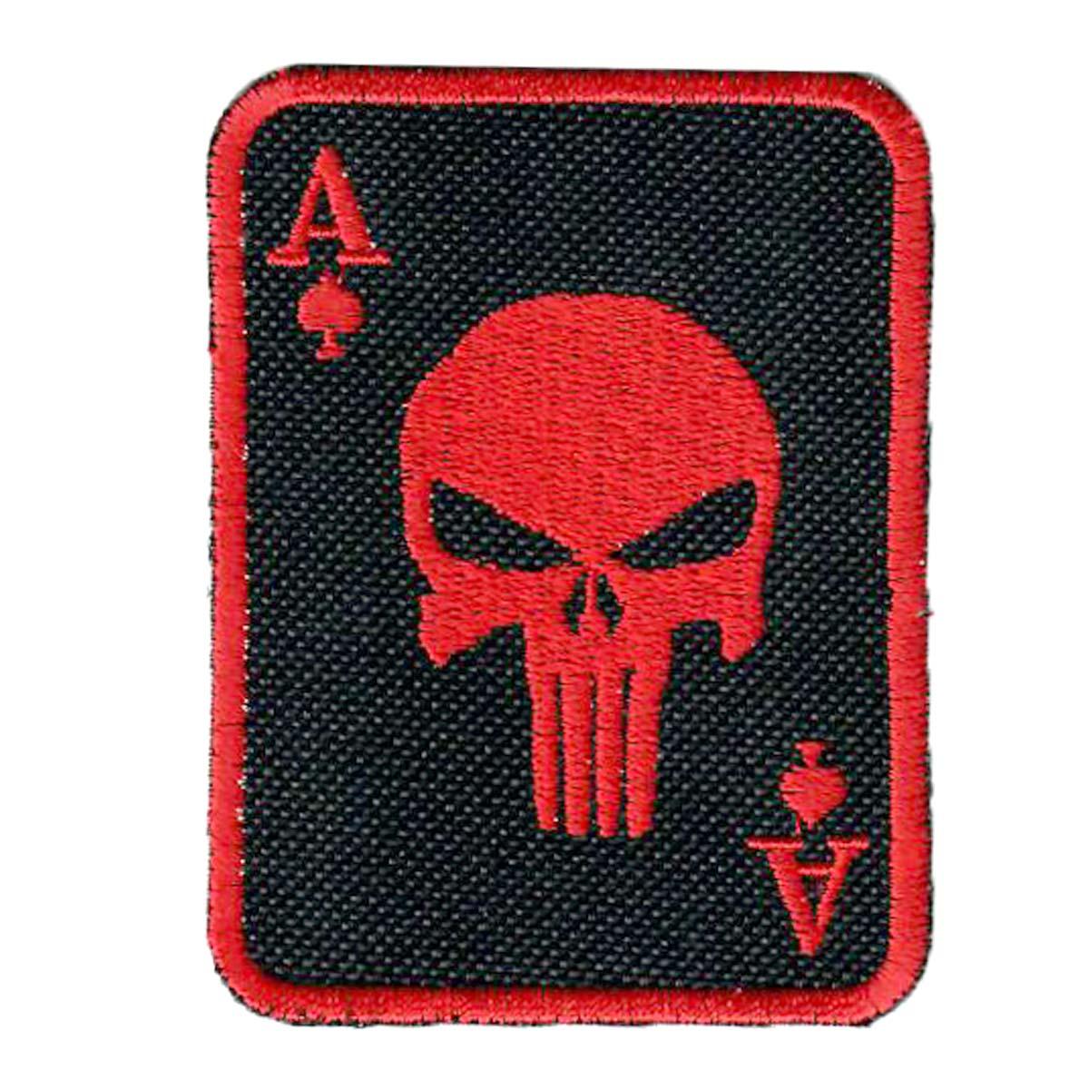 Death card ace bordado parche 7 x 9 cm