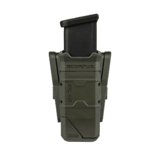 "Fab Single Magazine Pouch with Magazine loader For 9mm / .40 S&W Double Stack Magazines ""QL-9"""