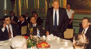 State dinner with President Weizman in Berlin, Germany